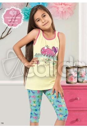 Özkan 40739 Kız Çocuk Taytlı Takım - Sarı