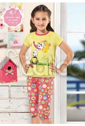 Özkan 40772 Kız Çocuk Kapri Takım - Sarı