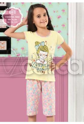 Özkan 40478 Kız Çocuk Kapri Takım - Sarı