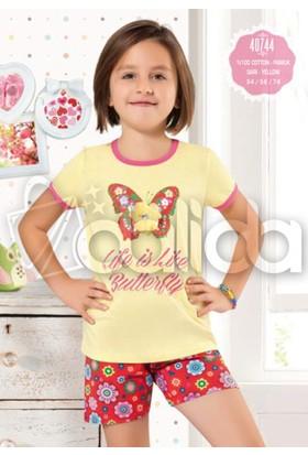 Özkan 40744 Kız Çocuk Şortlu Takım - Sarı