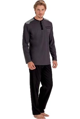 Mod Collection 009 Süprem Erkek Pijama Takım Antrasit