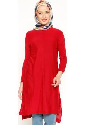 Triko Tunik - Kırmızı - Seyhan Fashion