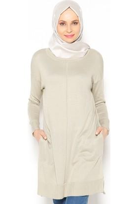 Triko Tunik - Taş - Seyhan Fashion