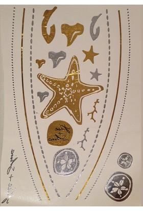 Leydika Flash Tattoo Geçici Metalik Dövme 83