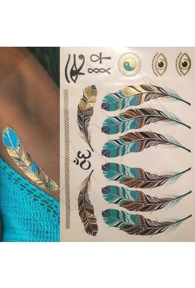 Leydika Illia Flash Tattoo Geçici Dövme Atın Gümüş