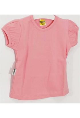Ertuğ Anne & Bebek Düz Renk Kız Çocuk T-Shirt Toz Pembe