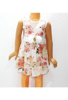 Himms Gül Kurusu Çiçekli Kız Elbisesi 1-6 Yaş