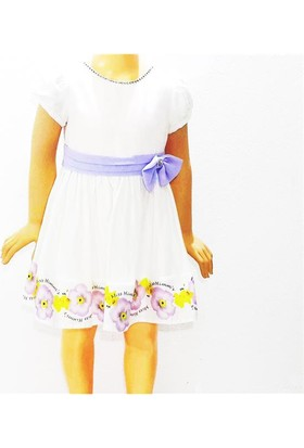 Himms Lila 10913 Astarlı Kız Elbise 1-6 Yaş