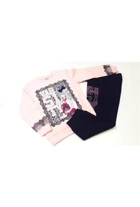 Şıpıdık Dantelli Kız Çocuk Pijama Takımı