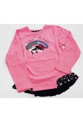 Tuffy Kızlı Çiçekli Kız Çocuk T-Shirt