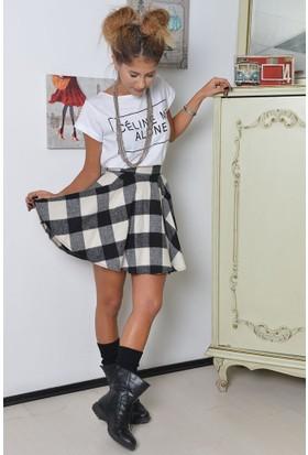 Bsl Fashion Siyah Etek 7964