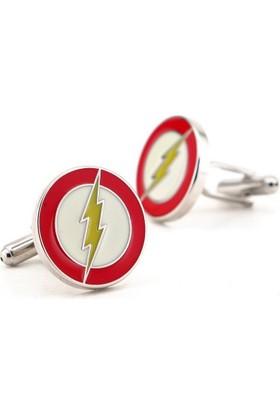Solfera Film Flash Logo Marvel Kol Düğmesi Kırmızı Cx087