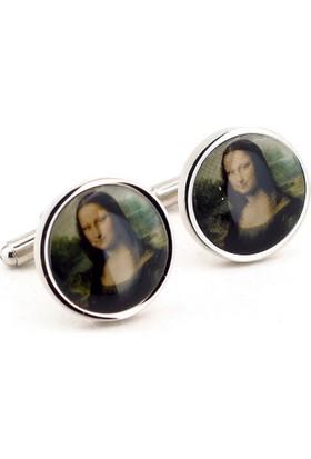 Solfera Mona Lisa Leonardo Da Vinci Kol Düğmesi Cx098