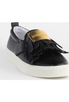 Markazen Püsküllü Spor Ayakkabı - Siyah