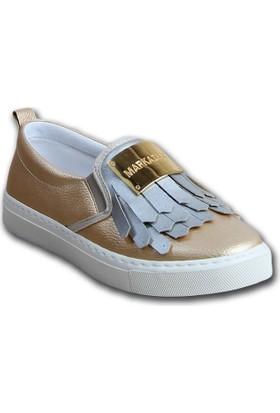 Markazen Püsküllü Spor Ayakkabı - Altın