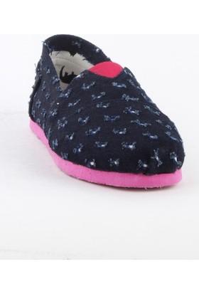 Markazen Desenli Spor Ayakkabı - Lacivert