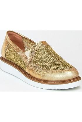 Markazen Detay Spor Ayakkabı - Altın 01