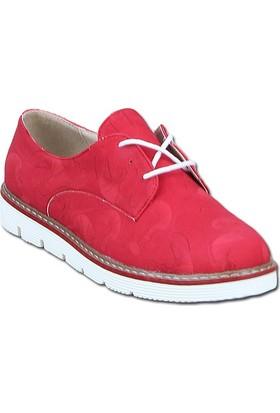 Markazen Desenli Oxford Ayakkabı - Fuşya