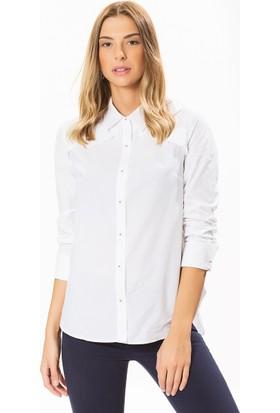 Roman Beyaz Koton Gömlek