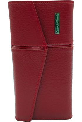 Tony Bellucci T507-962 Kırmızı Gerçek Deri Bayan Cüzdanı
