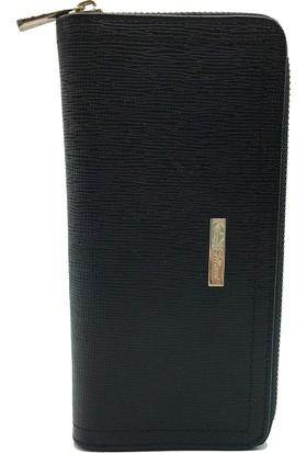 Tony Bellucci T509-985 Siyah Gerçek Deri Bayan Cüzdanı