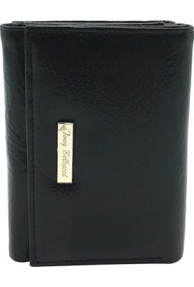 Tony Bellucci T611-910 Siyah Gerçek Deri Bayan Cüzdanı