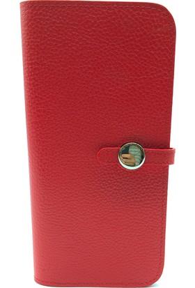 Tony Bellucci T711-282 Kırmızı Gerçek Deri Bayan Cüzdanı