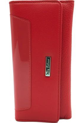 Tony Bellucci T601-983 Kırmızı Gerçek Deri Bayan Cüzdanı