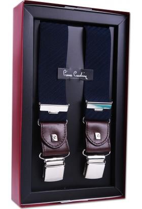 Pierre Cardin Lacivert Çizğili Pantolon Askısı PA35