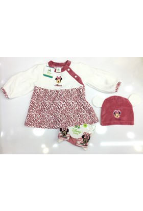 Disney Minnie Mouse 3'lü Çocuk Kadife Set