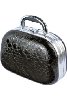 Tarko Lionesse Oval Büyük Bavul Tipi Çanta 364 - Simli Siyah