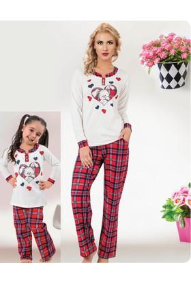 Elitol Anne ve Kız Pijama Takım 11210