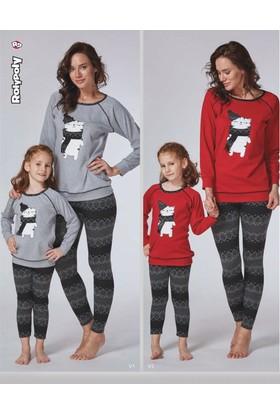 RolyPoly Anne ve Kız Pijama Takım 7972