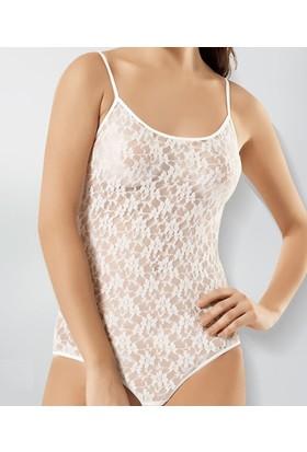 Elif Çamaşır Liza Dantel İp Askılı Çıtçıtlı Body