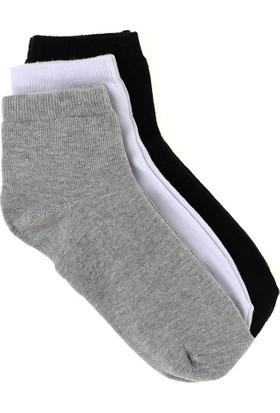 Elif Çamaşır 12'Li Paket Ekonomik Erkek Patik Çorap Gri