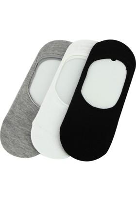 Elif Çamaşır 3'Lü Paket Ekonomik Erkek Babet Çorap Gri