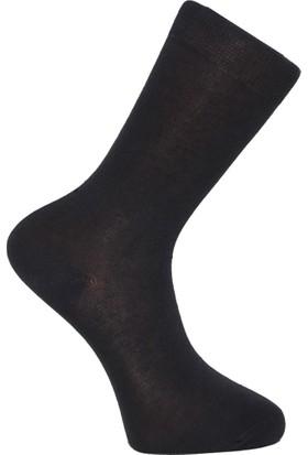 Elif Çamaşır 6'Lı Paket Bambu Erkek Çorap Füme