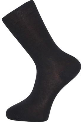 Elif Çamaşır 12'Li Paket Ekonomik Erkek Çorap Füme
