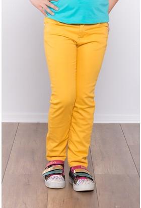Ottomama Kız Çocuk Keten Pantolon Hardal Renk