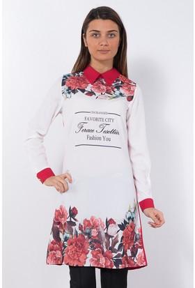 Modaverda Bayan Rahat Kesim Tunik Kırmızı Renk