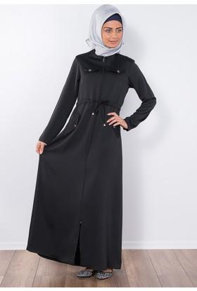Modaverda Ferace Gömlek Cepli Spor Salaş Siyah Renk