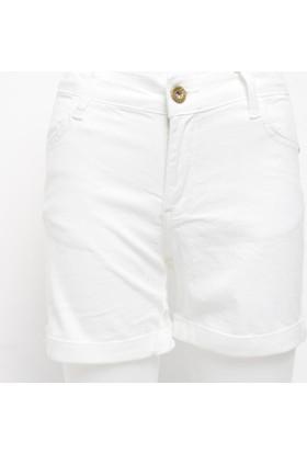 Ottomama Basic Renkli Kız Çoçuk Şort Beyaz Renk