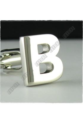 Extore Kol Düğmesi Harfler Serisi B Harfi Kd01B