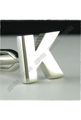 Extore Kol Düğmesi Harfler K Harfi Kd01K