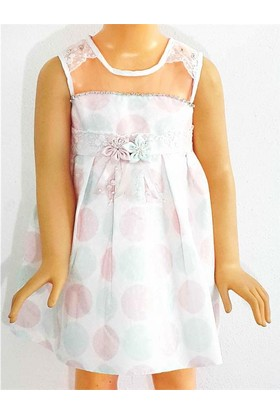 Kts Baby Puantiye Kız Çocuk Elbise 2 - 5 Yaş