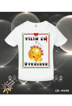 Lord T-Shirt Yılın En Uykucusu - Yılbaşı Kız Çocuk T-Shirt