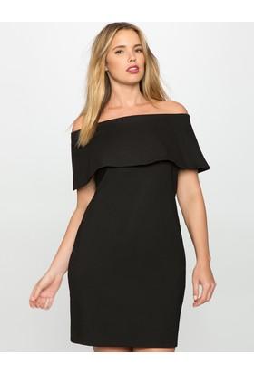 Melisita Deon Büyük Beden Straples Elbise