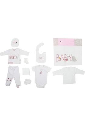 Bibaby Hastane Çıkışı 10'lu Baby Girl Ekru - Pembe