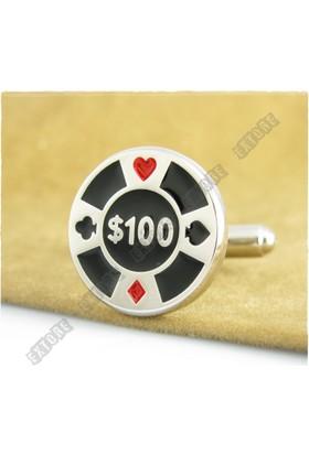Extore Kol Düğmesi Casino Fişi Poker Kd432
