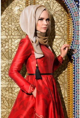 Muslima Wear Şifon Şal Bej